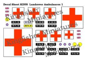Landrover Ambulances Set 1
